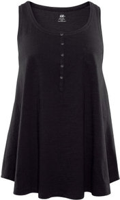 + Tunic - neckline: round neck; pattern: plain; sleeve style: sleeveless; length: below the bottom; style: tunic; predominant colour: black; occasions: casual; fibres: cotton - 100%; fit: loose; sleeve length: sleeveless; texture group: jersey - stretchy/drapey