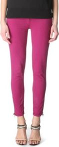 Plus Skinny Low Rise Jeans - style: skinny leg; pattern: plain; waist: low rise; pocket detail: traditional 5 pocket; predominant colour: magenta; occasions: casual, evening, holiday; length: ankle length; fibres: cotton - stretch; texture group: denim; pattern type: fabric