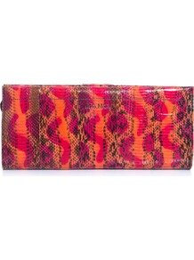Miretta Clutch - occasions: evening, occasion; predominant colour: multicoloured; type of pattern: standard; style: clutch; length: hand carry; size: small; material: animal skin; pattern: animal print; finish: patent