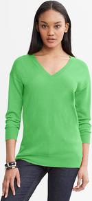 Draped V Neck Sweater - neckline: v-neck; pattern: plain; style: standard; predominant colour: mint green; occasions: casual, work; length: standard; fibres: silk - mix; fit: standard fit; sleeve length: long sleeve; sleeve style: standard; texture group: knits/crochet; pattern type: knitted - fine stitch; pattern size: standard