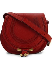 Marcie Mini Satchel - predominant colour: true red; occasions: casual, evening, work, holiday; type of pattern: standard; style: saddle; length: across body/long; size: standard; material: leather; embellishment: tassels; pattern: plain; finish: plain