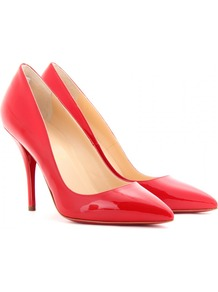 Batignolles 100 Patent Leather Pumps - predominant colour: true red; occasions: evening, work, occasion; material: leather; heel height: high; heel: stiletto; toe: pointed toe; style: courts; finish: patent; pattern: plain