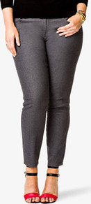 Fab Skinny Jeans (Short) - style: skinny leg; length: standard; pattern: plain; pocket detail: traditional 5 pocket; waist: mid/regular rise; predominant colour: charcoal; occasions: casual, evening, work; fibres: cotton - mix; jeans detail: dark wash; texture group: denim; pattern type: fabric; pattern size: standard