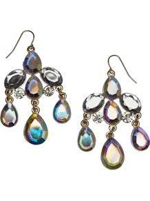 Carmen Earring - predominant colour: silver; occasions: evening, occasion; style: chandelier; length: mid; size: standard; material: chain/metal; fastening: pierced; finish: metallic; embellishment: crystals