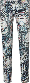 Aster Mid Rise Printed Skinny Jeans - style: skinny leg; length: standard; pocket detail: traditional 5 pocket; waist: mid/regular rise; secondary colour: black; occasions: casual, evening, work, holiday; fibres: cotton - stretch; predominant colour: multicoloured; texture group: denim; trends: modern geometrics; pattern type: fabric; pattern size: big &amp; light; pattern: patterned/print