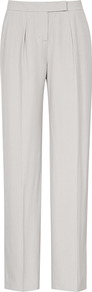 Bilbo Wide Leg Relaxed Trousers - length: standard; pattern: plain; waist: mid/regular rise; predominant colour: light grey; occasions: work; fibres: viscose/rayon - 100%; texture group: crepes; fit: straight leg; pattern type: fabric; style: standard