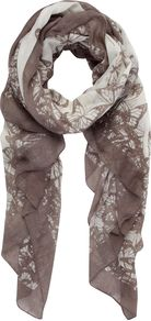 Blake Print Scarf, Multi Coloured - predominant colour: taupe; secondary colour: light grey; occasions: casual, work; type of pattern: light; style: regular; size: standard; material: fabric; pattern: patterned/print