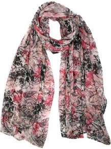 Freya Print Scarf - occasions: casual, work, holiday; predominant colour: multicoloured; type of pattern: heavy; style: regular; size: standard; material: fabric; pattern: patterned/print