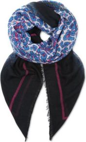 Animal Scarf - secondary colour: white; predominant colour: black; occasions: casual, evening, work; type of pattern: standard; style: square; size: standard; material: fabric; pattern: patterned/print