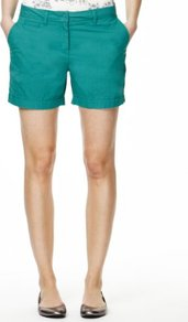 Pure Cotton Cargo Shorts - pattern: plain; style: shorts; length: mid thigh shorts; waist: mid/regular rise; predominant colour: teal; occasions: casual, holiday; fibres: cotton - 100%; texture group: cotton feel fabrics; fit: straight leg; pattern type: fabric