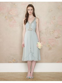 Harriet Dress - length: below the knee; neckline: low v-neck; pattern: plain; sleeve style: sleeveless; bust detail: added detail/embellishment at bust; waist detail: twist front waist detail/nipped in at waist on one side/soft pleats/draping/ruching/gathering waist detail; predominant colour: pistachio; occasions: evening, occasion; fit: fitted at waist & bust; style: fit & flare; fibres: polyester/polyamide - 100%; hip detail: soft pleats at hip/draping at hip/flared at hip; shoulder detail: added shoulder detail; back detail: keyhole/peephole detail at back; sleeve length: sleeveless; texture group: sheer fabrics/chiffon/organza etc.; pattern type: fabric; embellishment: beading
