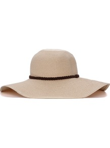 Floppy Natural Weave Hat - predominant colour: stone; occasions: casual, holiday; type of pattern: standard; style: wide brimmed; size: large; material: macrame/raffia/straw; pattern: plain