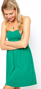 Mini Bandeau Sundress - length: mid thigh; pattern: plain; sleeve style: strapless; style: sundress; neckline: sweetheart; waist detail: twist front waist detail/nipped in at waist on one side/soft pleats/draping/ruching/gathering waist detail; predominant colour: mint green; occasions: casual, holiday; fit: fitted at waist & bust; fibres: cotton - stretch; sleeve length: sleeveless; pattern type: fabric; texture group: jersey - stretchy/drapey