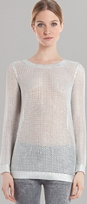 Sweater Star - pattern: plain; style: standard; predominant colour: white; secondary colour: silver; occasions: casual; length: standard; fibres: cotton - 100%; fit: slim fit; neckline: crew; sleeve length: long sleeve; sleeve style: standard; texture group: knits/crochet; pattern type: knitted - other