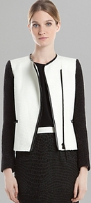 Jacket Verseau - pattern: plain; style: single breasted blazer; collar: high neck; shoulder detail: contrast pattern/fabric at shoulder; occasions: evening, work; length: standard; fit: tailored/fitted; fibres: wool - stretch; sleeve length: long sleeve; sleeve style: standard; predominant colour: monochrome; collar break: high; pattern type: fabric; pattern size: big &amp; light; texture group: woven bulky/heavy
