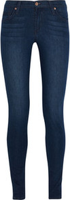Twiggy Low Rise Skinny Jeans - style: skinny leg; pattern: plain; pocket detail: traditional 5 pocket; waist: mid/regular rise; predominant colour: navy; occasions: casual, evening; length: ankle length; fibres: cotton - stretch; jeans detail: whiskering, shading down centre of thigh, dark wash; texture group: denim; pattern type: fabric