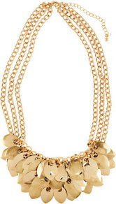 Necklace - predominant colour: gold; occasions: casual, evening, work, occasion, holiday; style: choker/collar; length: short; size: standard; material: chain/metal; trends: metallics; finish: metallic; embellishment: chain/metal