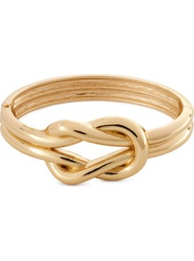 Bracelet - predominant colour: gold; occasions: casual, evening, work, occasion, holiday; style: bangle; size: standard; material: chain/metal; trends: metallics; finish: metallic