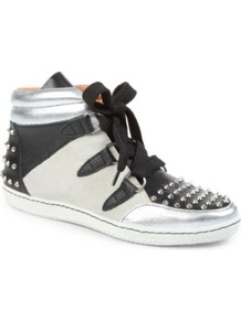 Albatorock Trainers - secondary colour: ivory; predominant colour: black; occasions: casual; material: leather; heel height: flat; embellishment: studs; toe: round toe; style: trainers; trends: sporty redux; finish: plain; pattern: colourblock