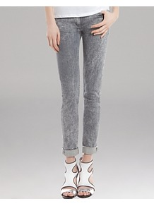 Jeans Parfait - style: skinny leg; pattern: plain; pocket detail: traditional 5 pocket; waist: mid/regular rise; predominant colour: mid grey; occasions: casual; length: ankle length; fibres: cotton - stretch; texture group: denim; pattern type: fabric