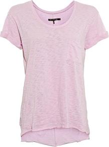 Pocket Tee In Pink - neckline: round neck; pattern: plain; style: t-shirt; predominant colour: pink; occasions: casual, holiday; length: standard; fibres: cotton - 100%; fit: body skimming; back detail: longer hem at back than at front; sleeve length: short sleeve; sleeve style: standard; pattern type: fabric; texture group: jersey - stretchy/drapey