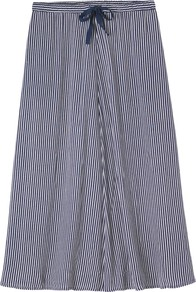 Striped Maxi Skirt, Navy Stripe - length: below the knee; pattern: vertical stripes; fit: loose/voluminous; waist detail: belted waist/tie at waist/drawstring; waist: mid/regular rise; predominant colour: navy; occasions: casual; style: a-line; fibres: viscose/rayon - 100%; texture group: cotton feel fabrics; pattern type: fabric; pattern size: standard