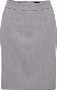 Cutand Sew Skirt - pattern: plain; style: pencil; fit: tailored/fitted; waist: mid/regular rise; predominant colour: light grey; occasions: casual, work; length: just above the knee; fibres: polyester/polyamide - stretch; pattern type: fabric; texture group: other - light to midweight