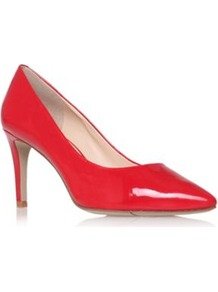 Charly3 - predominant colour: true red; occasions: evening, work, occasion; material: leather; heel height: high; heel: stiletto; toe: pointed toe; style: courts; finish: patent; pattern: plain