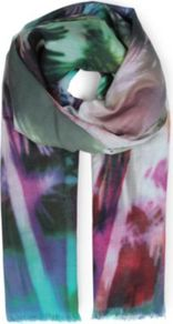 Aloha Scarf - occasions: casual, evening, work, holiday; predominant colour: multicoloured; type of pattern: large; style: regular; size: standard; material: fabric; pattern: patterned/print