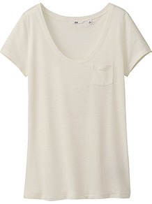 Women Modal Linen Short Sleeve T Shirt 01 Off White - pattern: plain; length: below the bottom; style: t-shirt; predominant colour: white; occasions: casual, holiday; neckline: scoop; fibres: linen - mix; fit: body skimming; sleeve length: short sleeve; sleeve style: standard; texture group: cotton feel fabrics; pattern type: fabric