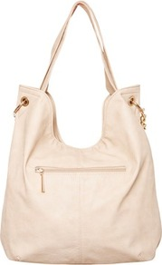 Stud Detail Slouchy Bag - predominant colour: blush; occasions: casual, work; type of pattern: standard; style: shoulder; length: shoulder (tucks under arm); size: standard; material: faux leather; embellishment: zips; pattern: plain; finish: plain