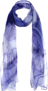 Watermark Scarf - predominant colour: purple; occasions: casual, work, occasion; style: regular; size: standard; material: fabric; pattern: patterned/print