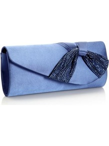 Blue Sequin Twist Clutch Bag - predominant colour: indigo; secondary colour: navy; occasions: evening, occasion; type of pattern: light; style: clutch; length: hand carry; size: small; material: fabric; embellishment: sequins; pattern: plain; finish: plain