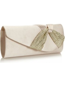 Dark Cream Sequin Twist Clutch Bag - predominant colour: stone; secondary colour: gold; occasions: evening, occasion; type of pattern: light; style: clutch; length: hand carry; size: small; material: fabric; embellishment: sequins; pattern: plain; finish: plain