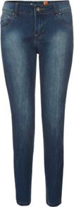28in Blue Superskinny Shaper Jeans - style: skinny leg; length: standard; pattern: plain; pocket detail: traditional 5 pocket; waist: mid/regular rise; predominant colour: indigo; occasions: casual; fibres: cotton - 100%; jeans detail: shading down centre of thigh, dark wash; texture group: denim; pattern type: fabric