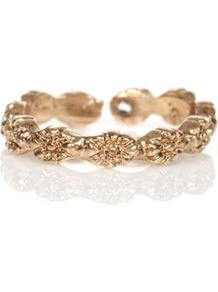 Gold Floral Band Toe Ring - predominant colour: gold; occasions: casual, evening, work, occasion, holiday; style: band; size: standard; material: chain/metal; trends: metallics; finish: plain; embellishment: chain/metal