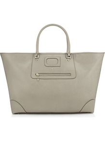 Paxton Tote - predominant colour: mid grey; occasions: casual, work; style: tote; length: handle; size: oversized; material: leather; pattern: plain; finish: plain