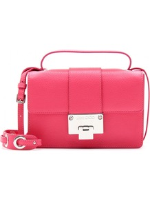 Rebel Leather Shoulder Bag - predominant colour: hot pink; occasions: casual, evening, occasion, holiday; type of pattern: standard; style: shoulder; length: shoulder (tucks under arm); size: small; material: leather; pattern: plain; trends: fluorescent; finish: plain