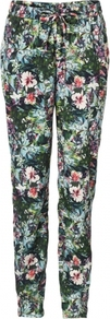 Carnival Trousers Multi / - length: standard; waist detail: belted waist/tie at waist/drawstring; waist: mid/regular rise; occasions: casual, holiday; fibres: polyester/polyamide - 100%; predominant colour: multicoloured; trends: high impact florals; fit: skinny/tight leg; pattern type: fabric; pattern size: big & busy; pattern: florals; texture group: other - light to midweight; style: standard