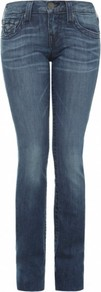 Blue Billy Straight Leg Jeans Uk - length: standard; pattern: plain; pocket detail: traditional 5 pocket; style: slim leg; waist: mid/regular rise; predominant colour: denim; occasions: casual; fibres: cotton - stretch; jeans detail: whiskering, shading down centre of thigh, dark wash; texture group: denim; pattern type: fabric