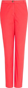 Boyfriend Trousers, Medium Red - pattern: plain; waist: mid/regular rise; predominant colour: coral; occasions: casual, evening; length: ankle length; fibres: cotton - 100%; texture group: cotton feel fabrics; fit: slim leg; pattern type: fabric; style: standard