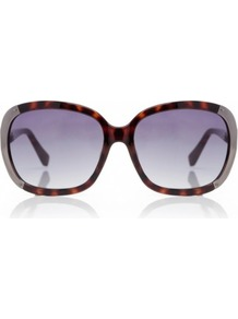 Multi Lana Sunglasses M2851 S Multi Coloured Os - predominant colour: chocolate brown; secondary colour: camel; occasions: casual, evening, work, occasion, holiday; style: square; size: large; material: plastic/rubber; pattern: tortoiseshell; finish: plain