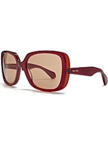 Over Size Square Sunglasses - predominant colour: burgundy; occasions: casual, holiday; style: square; size: large; material: plastic/rubber; pattern: plain; finish: plain