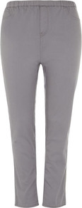 Grey Jeggings - length: standard; pattern: plain; style: jeggings; waist: mid/regular rise; predominant colour: mid grey; occasions: casual; fibres: cotton - stretch; texture group: denim; pattern type: fabric; pattern size: standard
