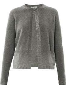 Tequila Cardigan - neckline: round neck; pattern: plain; predominant colour: mid grey; occasions: casual, work; length: standard; style: standard; fit: standard fit; fibres: cashmere - 100%; sleeve length: long sleeve; sleeve style: standard; texture group: knits/crochet; pattern type: knitted - fine stitch