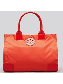 Tote Nylon Ella - predominant colour: bright orange; occasions: casual, holiday; style: tote; length: shoulder (tucks under arm); size: standard; material: fabric; pattern: plain; finish: plain
