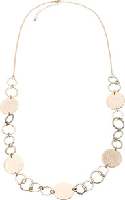 Magnolia Necklace - secondary colour: silver; predominant colour: gold; occasions: casual, work, holiday; style: standard; length: mid; size: standard; material: chain/metal; finish: metallic; embellishment: chain/metal