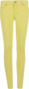 Ted Baker Patcey Colour Skinny Denim - style: skinny leg; length: standard; pattern: plain; pocket detail: traditional 5 pocket; waist: mid/regular rise; predominant colour: yellow; occasions: casual; fibres: cotton - stretch; texture group: denim; trends: fluorescent; pattern type: fabric