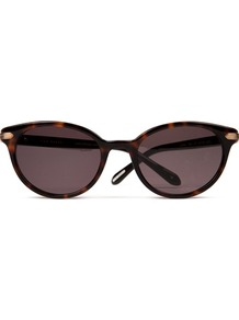Ted Baker Surina Cat Eye Sunglasses - predominant colour: chocolate brown; secondary colour: camel; occasions: casual, evening, work, occasion, holiday; style: cateye; size: standard; material: plastic/rubber; pattern: tortoiseshell; finish: plain