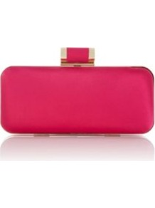 Shocking Pink Boxed Bag - predominant colour: hot pink; occasions: evening, occasion; style: clutch; length: hand carry; size: mini; material: satin; pattern: plain; trends: fluorescent; finish: plain